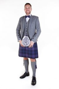 mod silver crail outfit-scottish thistle